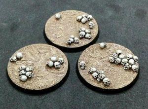 Baker Bases   Skulls Skull: 50mm Round Bases (3) - CB-SK-01-50M - CB-SK-01-50M