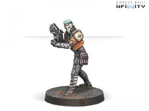 Corvus Belli Infinity  Non-Aligned Armies - NA2 Authorized Bounty Hunter (Combi Rifle) - 280713-0461 - 2807130004612