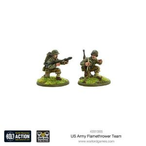 Warlord Games Bolt Action  United States of America (BA) US Army Flamethrower team - WGB-403013005 -