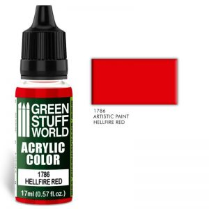 Green Stuff World   Acrylic Paints Acrylic Color HELLFIRE RED - 8436574501452ES - 8436574501452