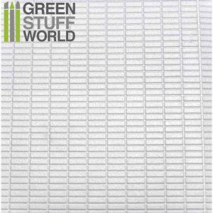 Green Stuff World   Plasticard ABS Plasticard - MEDIUM RECTANGLES Textured Sheet - A4 - 8436554361120ES - 8436554361120