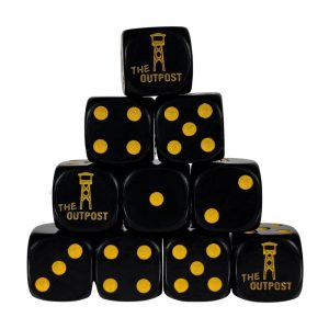 Outpost   Outpost Dice Outpost Dice: Black (16mm) Pack of 10 - OPDICEBLACK10 - OPBLACK10