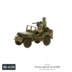 Warlord Games Bolt Action  United States of America (BA) US Army Jeep with 30 Cal MMG - 403213001 - 5060393709282