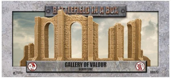 Gale Force Nine   Battlefield in a Box Gothic Battlefields - Gallery of Valour - Sandstone - BB617 - 9420020248960