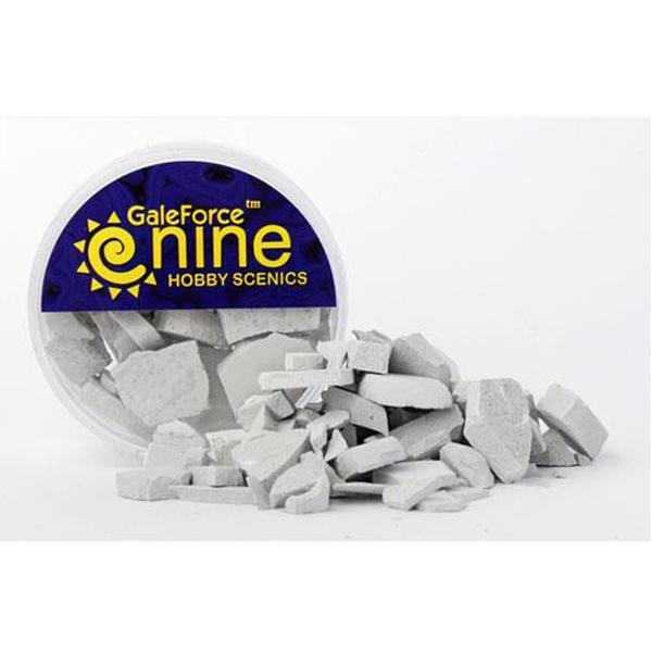 Gale Force Nine   Rubble & Concrete Hobby Round: Concrete Rubble Mix - GFS025 - 8780540003892