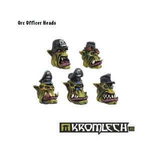 Kromlech   Orc Conversion Parts OW2 Orc Officer Heads (10) - KRCB019 - 5902216110175