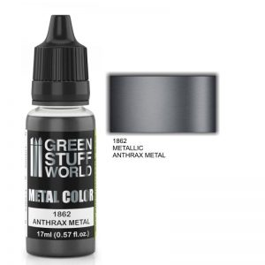 Green Stuff World   Acrylic Metallics Metallic Paint ANTHRAX METAL - 8436574502213ES - 8436574502213