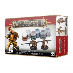 Games Workshop Age of Sigmar  Paint Sets Age of Sigmar: Stormcast Eternals Vindicators + Paint Set - 52170218001 - 5011921157518