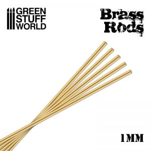 Green Stuff World   Brass Rods Pinning Brass Rods 1mm - 8436554367160ES - 8436554367160