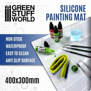 Green Stuff World   Paint Palettes Silicone Painting Mat 400x300mm - 8435646500720ES -