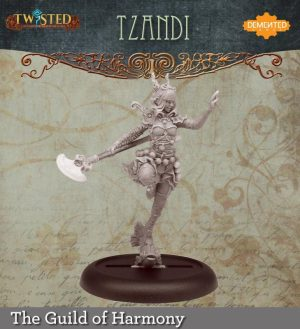 Demented Games Twisted: A Steampunk Skirmish Game  Guild of Harmony Tzandi (Resin) - RGR103 -