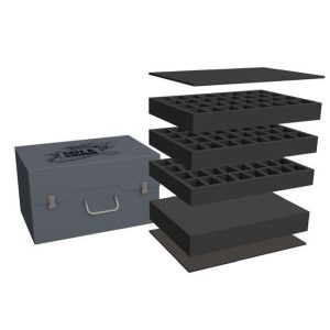 Safe and Sound   Safe and Sound Cases Army Pack for 96 minis on 40mm bases and 72mm deep raster foam tray - SAFE-AP-R72MM96M - 5907459695571