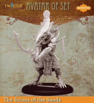 Demented Games Twisted: A Steampunk Skirmish Game  Scions of the Sands Avatar of Set (Resin) - RER006 -