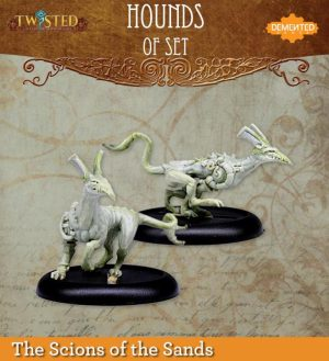 Demented Games Twisted: A Steampunk Skirmish Game  Scions of the Sands Hounds of Set 2 & 3 (Metal) - REM202 -