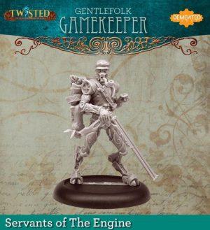 Demented Games Twisted: A Steampunk Skirmish Game  Servants of the Engine Gentlefolk Gamekeeper (Metal) - RSM106 -