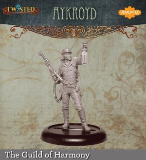 Demented Games Twisted: A Steampunk Skirmish Game  Guild of Harmony Aykroyd Paranormal Investigator (Metal) - RGM005 -