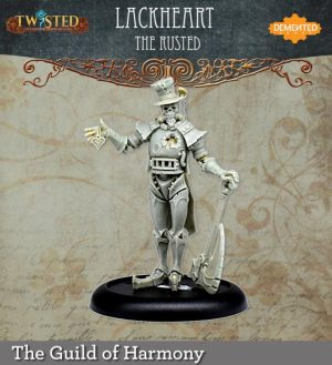 Demented Games Twisted: A Steampunk Skirmish Game  Guild of Harmony Lackheart the Rusted (Resin) - RGR203 -
