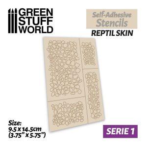 Green Stuff World   Stencils Self-adhesive stencils - Reptile skin - 8436574500035ES -