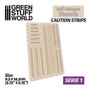 Green Stuff World   Stencils Self-adhesive stencils - Caution Strips - 8435646504353ES -
