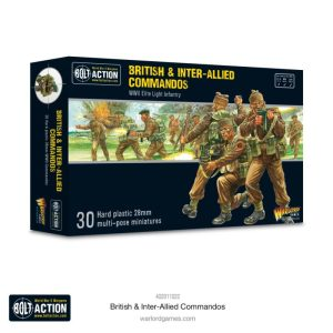 Warlord Games Bolt Action  Great Britain (BA) British & Inter-Allied Commandos - 402011022 - 5060572507265