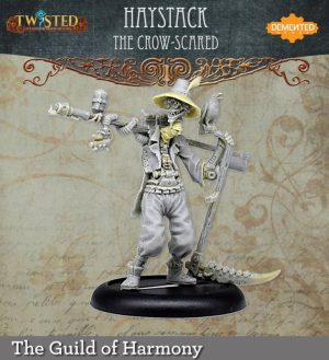 Demented Games Twisted: A Steampunk Skirmish Game  Guild of Harmony Haystack the Crow Scared (Metal) - RGM202 -