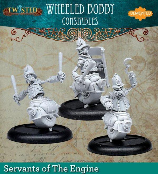 Demented Games Twisted: A Steampunk Skirmish Game  Servants of the Engine Bobby 3 pack (Metal) - RSM110 - RSM110