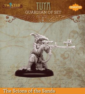 Demented Games Twisted: A Steampunk Skirmish Game  Scions of the Sands Guardian of Set Farsight Tuya (Metal) - REM106 -