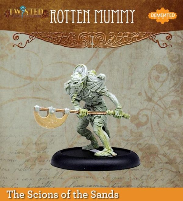 Demented Games Twisted: A Steampunk Skirmish Game  Scions of the Sands Rotten Mummy (Metal) - REM203 -