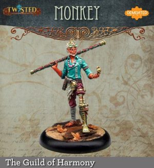 Demented Games Twisted: A Steampunk Skirmish Game  Guild of Harmony The Monkey King (Metal) - RGM101 -