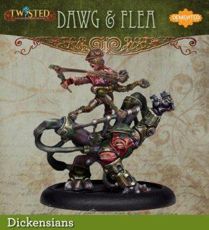 Demented Games Twisted: A Steampunk Skirmish Game  Dickensians Urkin Dawg & Flea (Metal) - RDM207 -