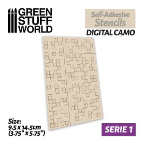 Green Stuff World   Stencils Self-adhesive stencils - Digital Camo - 8435646502380ES -
