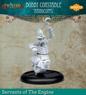 Demented Games Twisted: A Steampunk Skirmish Game  Servants of the Engine Bobby Constable Handcuffs (Resin) - RER111 -