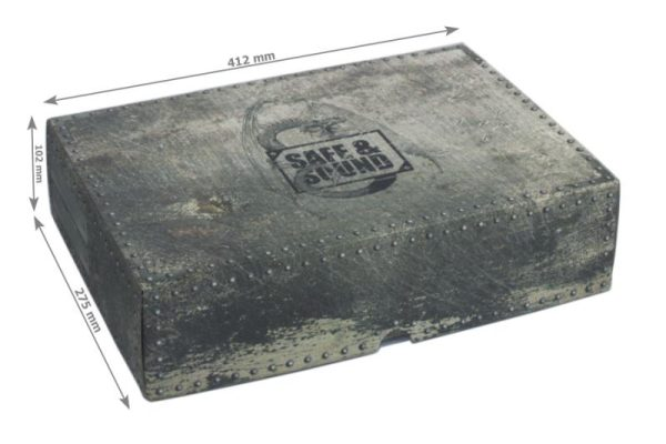 Safe and Sound   Safe and Sound Cases XL Box with two 40mm deep raster foam trays - SAFE-XL-2XR40MM - 5907222526972