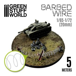 Green Stuff World   Barbed Wire Simulated BARBED WIRE - 1/65-1/72 (20mm) - 8435646505305ES -