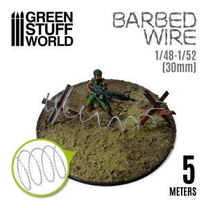 Green Stuff World   Barbed Wire Simulated BARBED WIRE - 1/48-1/52 (30mm) - 8435646505312ES -