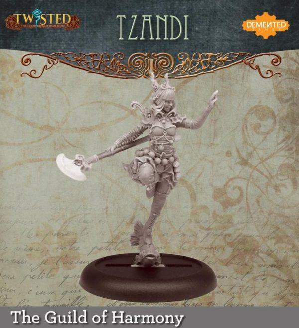 Demented Games Twisted: A Steampunk Skirmish Game  Guild of Harmony Tzandi (Metal) - RGM103 -