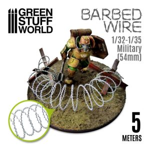 Green Stuff World   Barbed Wire Simulated BARBED WIRE - 1/32-1/35 Military (54mm) - 8436554366019ES -