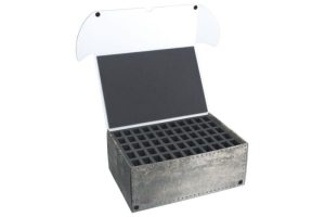 Safe and Sound   Safe and Sound Cases Combi BOX with 100mm deep raster foam tray and foam tray for 55 small miniatures on 25mm bases - SAFE-C-R10055M - 5907459694772