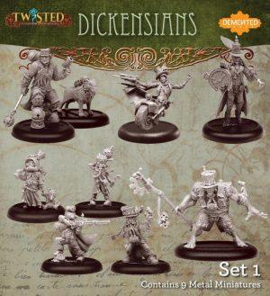 Demented Games Twisted: A Steampunk Skirmish Game  Dickensians Dickensians Box Set 1 - RDM901 - RDM901