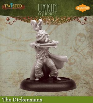 Demented Games Twisted: A Steampunk Skirmish Game  Dickensians Urkin Shooter - Squirrel (Resin) - RDR105 -