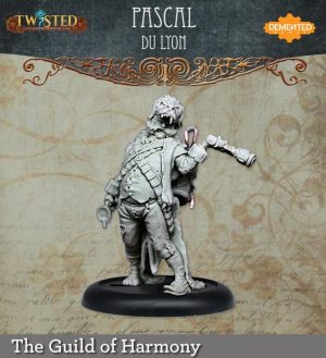 Demented Games Twisted: A Steampunk Skirmish Game  Guild of Harmony Pascal Du Lyon (Resin) - RGR204 -