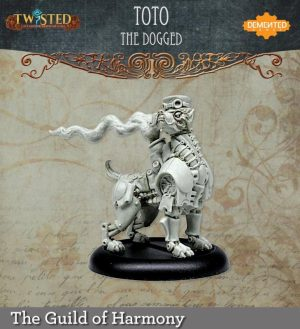 Demented Games Twisted: A Steampunk Skirmish Game  Guild of Harmony Toto the Dogged (Resin) - RGR201 -