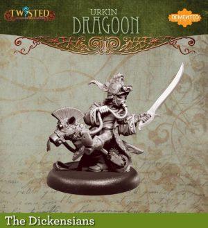 Demented Games Twisted: A Steampunk Skirmish Game  Dickensians Urkin Dragoon (Metal) - RDM203 -