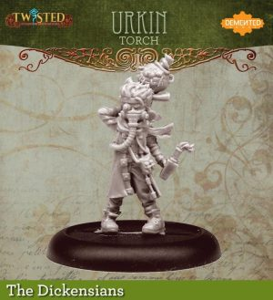 Demented Games Twisted: A Steampunk Skirmish Game  Dickensians Urkin Slasher  - Torch (Resin) - RDR103 -
