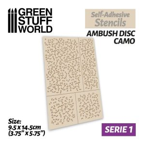 Green Stuff World   Stencils Self-adhesive stencils - Ambush Disc Camo - 8435646502397ES -