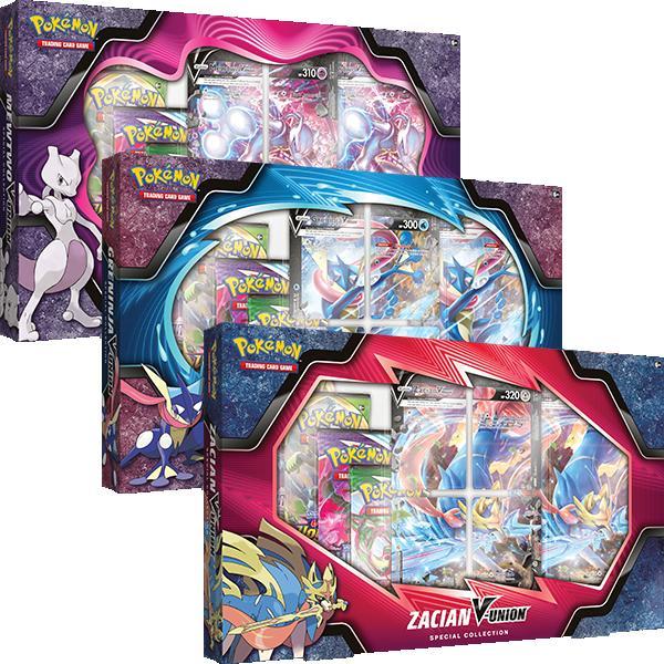 Pokemon Pokemon - Trading Card Game  Pokemon Pokemon TCG: V-Union Special Collection - Mewtwo, Greninja & Zacian - POK82907 - 820650809071