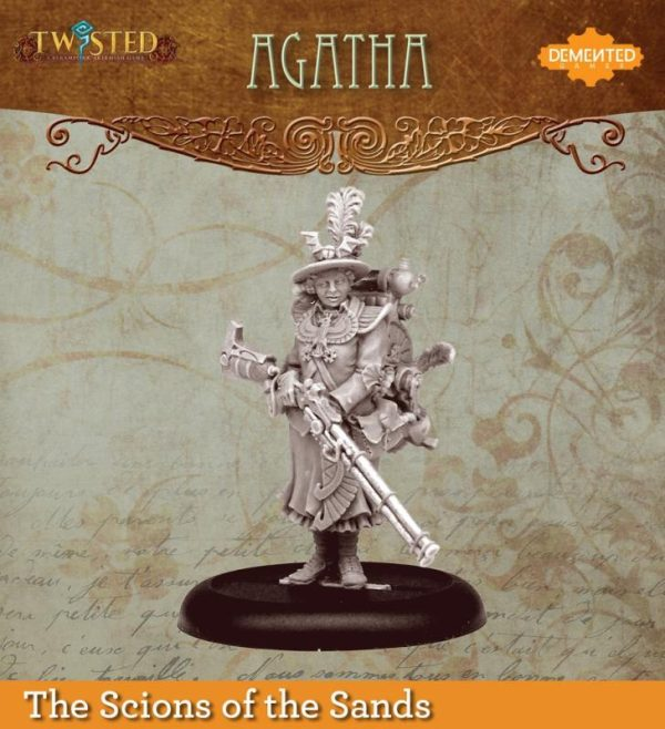 Demented Games Twisted: A Steampunk Skirmish Game  Scions of the Sands Agatha (Metal) - REM002 - REM002