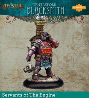 Demented Games Twisted: A Steampunk Skirmish Game  Servants of the Engine Gentlefolk Blacksmith (Resin) - RSR104 -