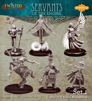Demented Games Twisted: A Steampunk Skirmish Game  Servants of the Engine Servants of the Engine Box Set 1 - RSM901 - RSM901