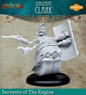 Demented Games Twisted: A Steampunk Skirmish Game  Servants of the Engine Bobby Constable Riot Shield (Resin) - RER112 -